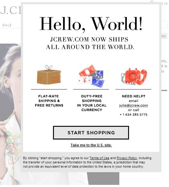 JCREW Internationalisierung auf Knopfdruck – Fulfillment-Dienstleister wie Borderfree eröffnen neue Wachstumschancen