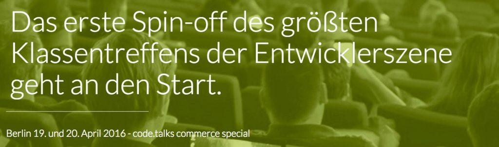 codetalks commerce Berlin