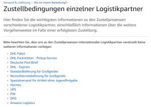 Amazon Logistics Zustelldienst